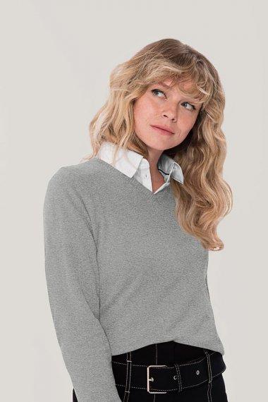 Damen V-Pullover Premium-Cotton