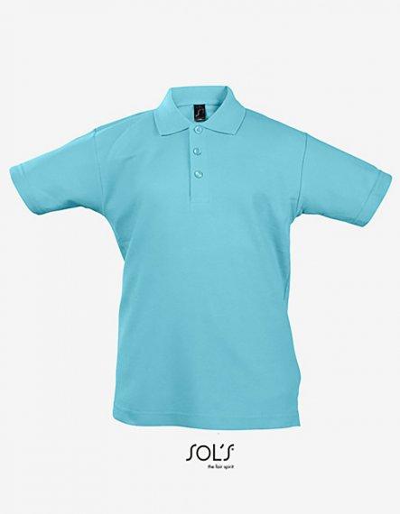 Kinder Summer Polo II 8 Jahre (118/128)   Atoll Blue